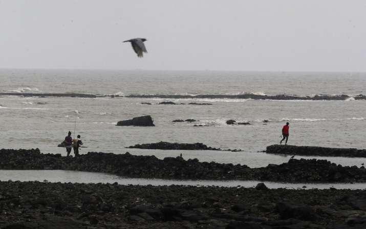 Fishermen arrive to catch fish on the Arabian Sea coast in Mumbai, India, Tuesday, June 2, 2020. Cyc