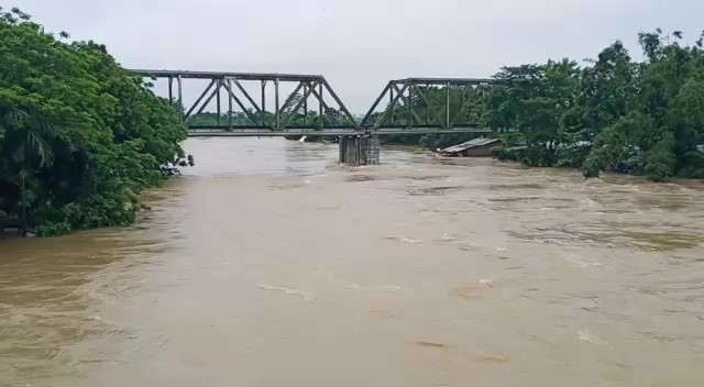 Heavy monsoon rains have caused flood situation in several low lying areas of Assam. Tinsukia, Dibru