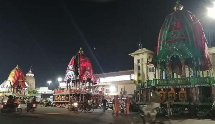 Chariots ready for this year'sLord Jagannath Rath Yatra.