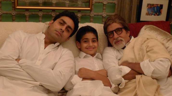 Amitabh Bachchan shares photo of his three generations and it is too cute for words