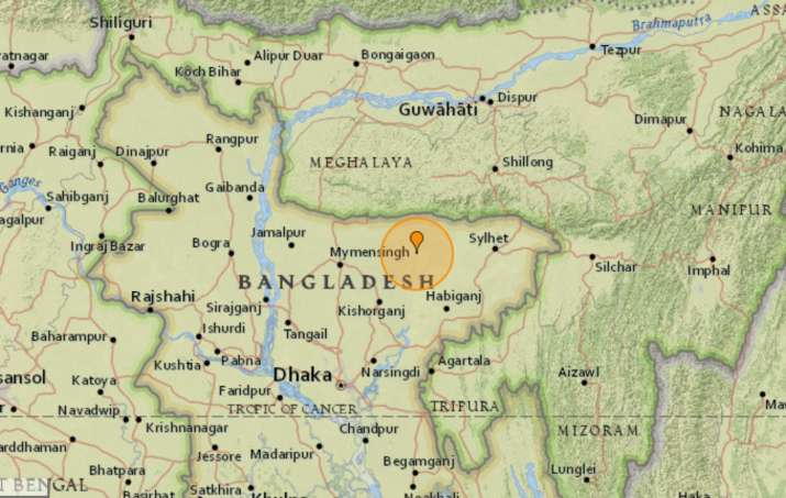 Earthquake of magnitude 4.2 strikes India-Bangladesh border