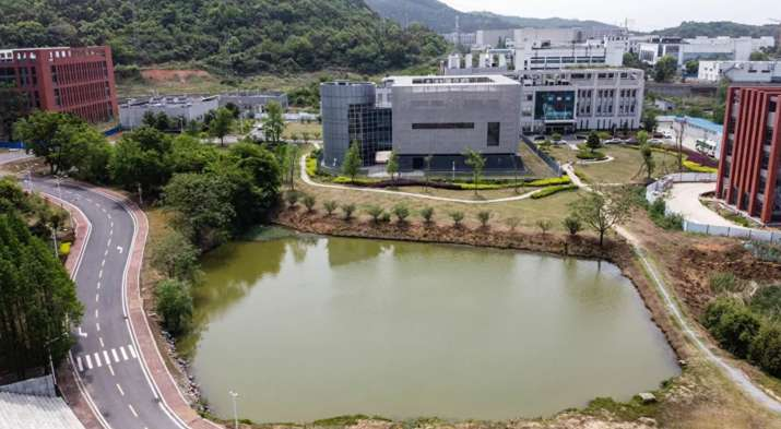 An aerial view shows the P4 laboratory (C) at the Wuhan Institute of Virology in Wuhan in China's ce
