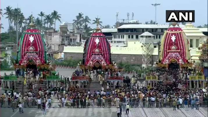 India Tv - Puri Lord Jagannath Yatra 2020 photos: Deities placed in chariots for Puri Rath Yatra