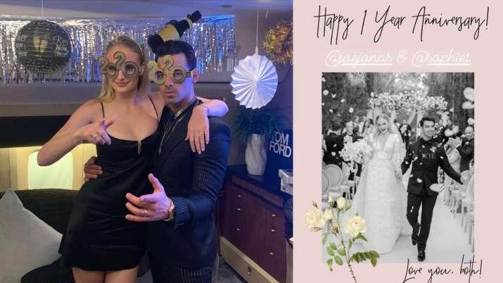India Tv - Priyanka Chopra wishes Joe Jonas and Sophie Turner on first wedding anniversary