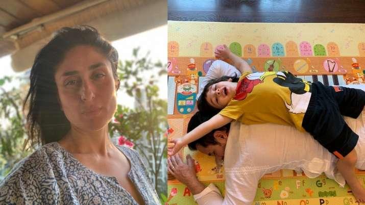 Kareena Kapoor shares lovable photo of Taimur lying on daddy Saif Ali Khan's back