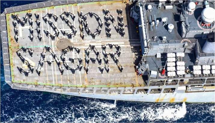Naval ship 'Kesari' returns after deployment in southern Indian Ocean region