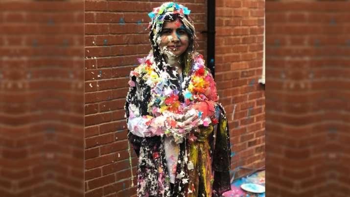 Malala Yousafzai shared a cake-drenched photo Oxford University degree