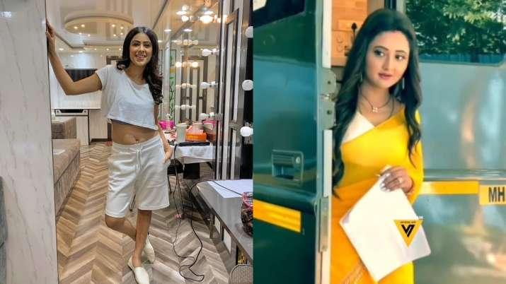 Nia Sharma, Rashami Desai's BTS photos from Naagin 4 sets go viral