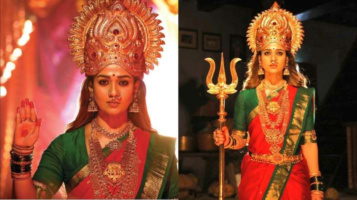 Fans awestruck over Nayanthara's beauty after her photos as goddess from Mookuthi Amman sets go vira