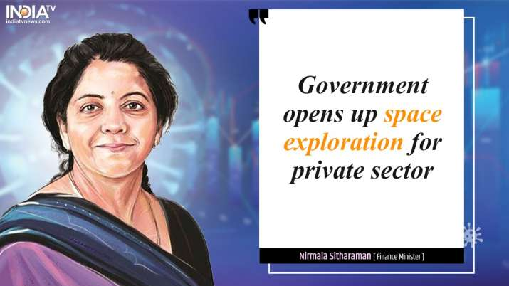 India Tv - Space sector, Nirmala Sitharaman, Private Sector