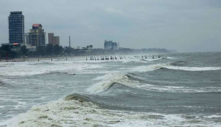 India Tv - A view of the rough sea in Kozhikode, Wednesday, June 3, 2020, after the cyclonic storm Nisarga made landfall at Alibaug on the Maharashtra coast at around 1 pm