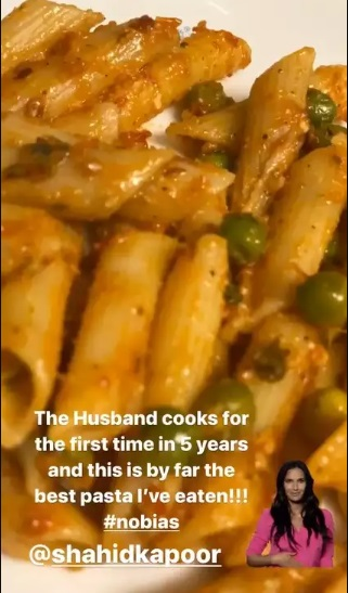 India Tv - Shahid Kapoor turns chef and serves 'best pasta' to wife Mira Rajput