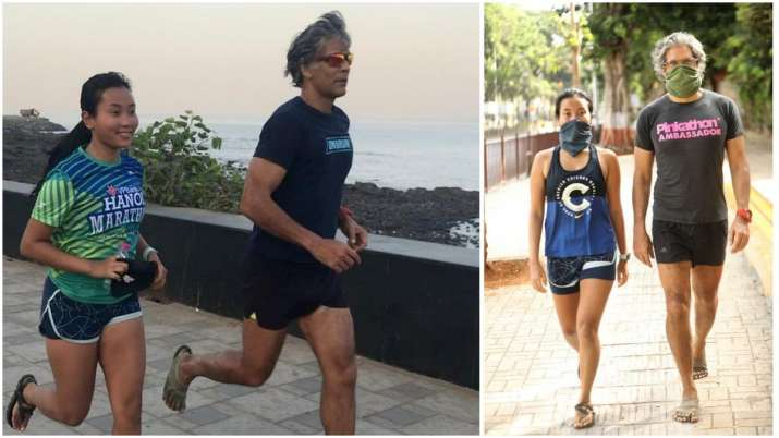 Milind Soman goes running with wife Ankita Konwar after 75 days, shares pic