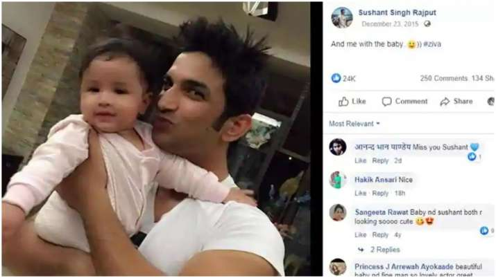 India Tv - Sushant Singh Rajput with Ziva Dhoni