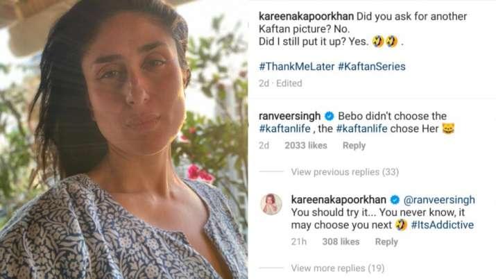 India Tv - Kareena Kapoor Khan asks Ranveer Singh to try 'kaftan'