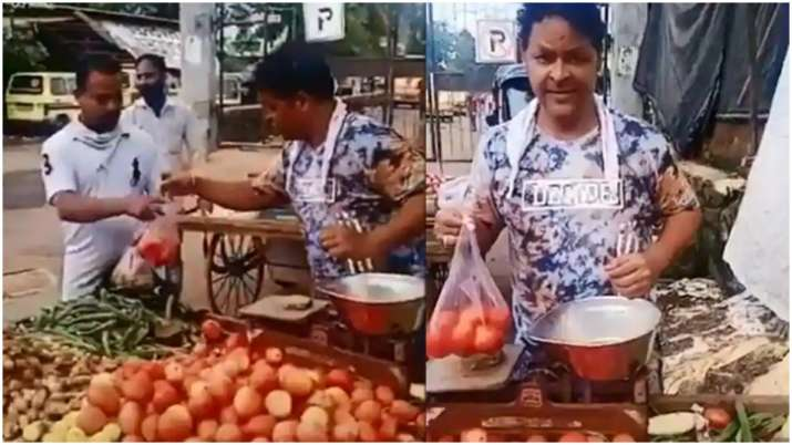 actor Javed Hyder viral video selling vegetables