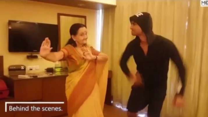 Sushant Singh Rajput grooving with onscreen grandmother during Dil Bechara shoot
