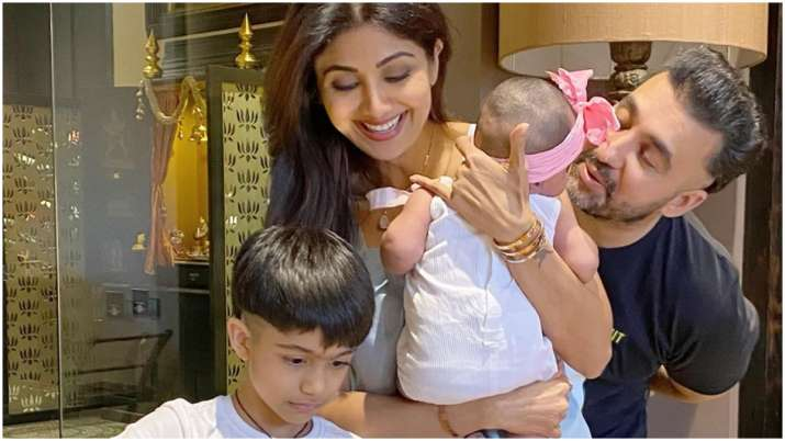 Inside Shilpa Shetty's birthday celebration with husband Raj Kundra and kids, see pics