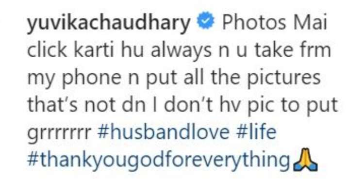 India Tv - Prince Narula shares romantic photos with wife Yuvika Chaudhary but she isn't happy about it