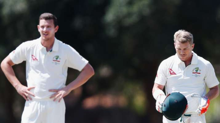David Warner backs Josh Hazlewood to get a fifty as a tailender