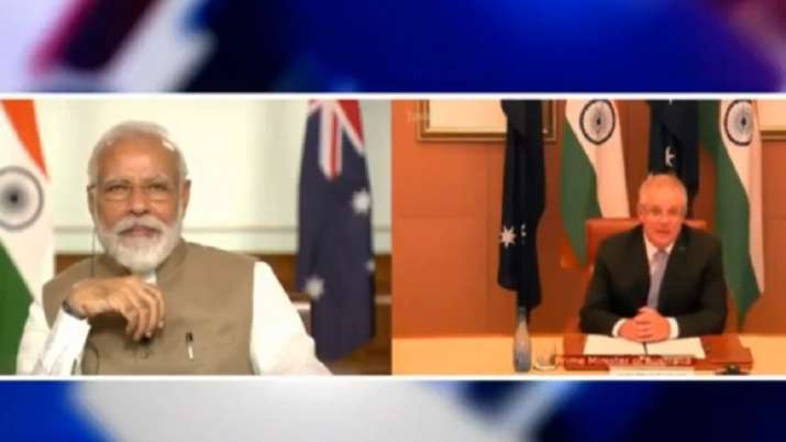 India, Australia jointly back UNCLOS in the Indo-Pacific, sign key logistics sharing pact