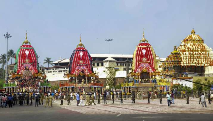 India Tv - Lord Jagannath Yatra 2020: In this photo, the three chariots of Lord Jagannath - Nandighosa, Balbhad