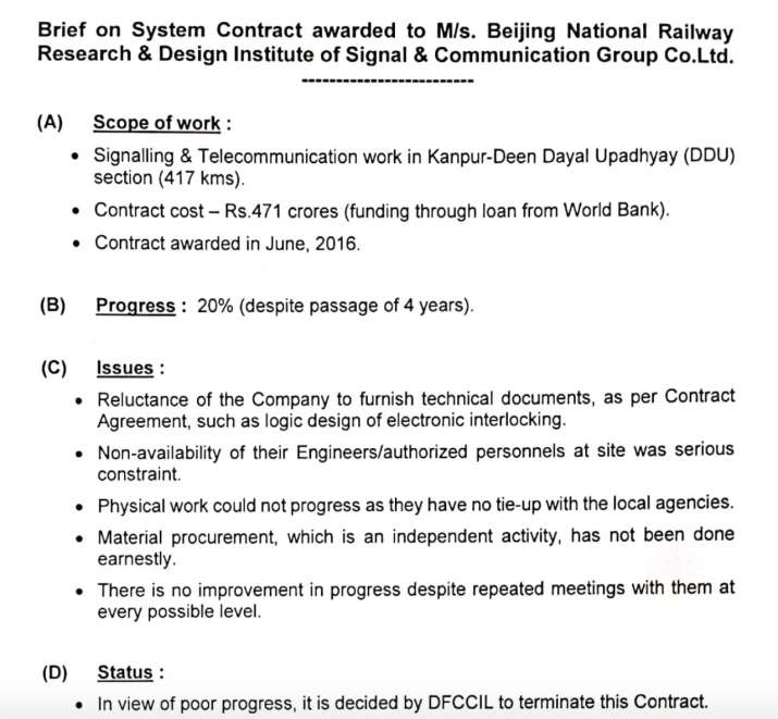 India Tv - India-China border face-off: Indian Railways scrap project contracts awarded to Chinese companies