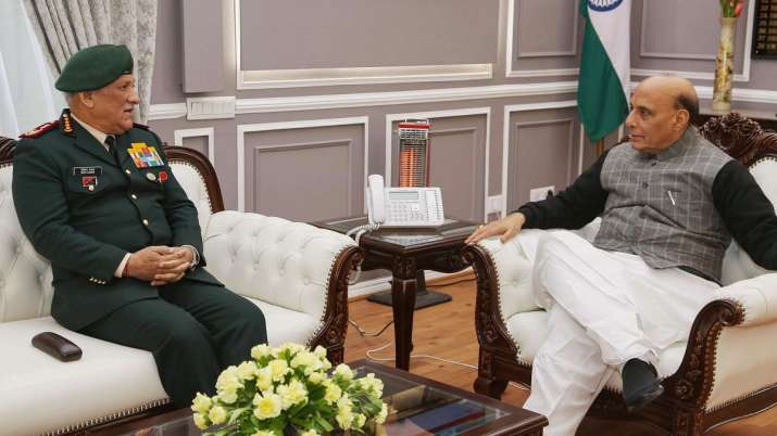 India-China Faceoff: Rajnath Singh holds high level meeting with CDS General Bipin Rawat, 3 service
