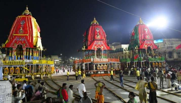 India Tv - 3 Chariots parked in front of Singhadwara, Puri