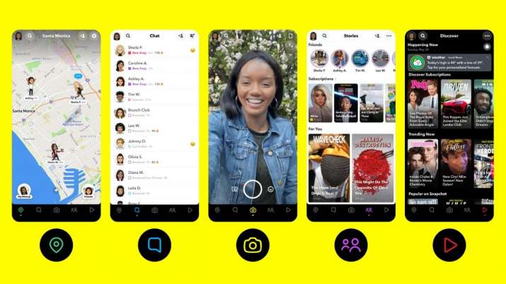 Snapchat app overhauled: Here are all the new things introduced |  Technology News – India TV