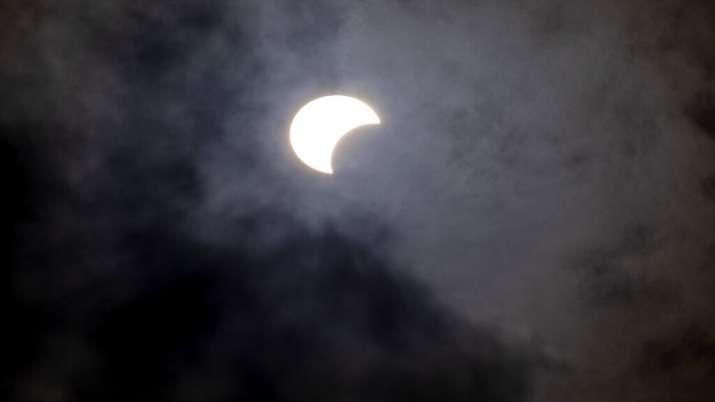 India Tv - Solar Eclipse 2020, Solar Eclipse Israel, Solar eclipse photos, Solar eclipse world photos