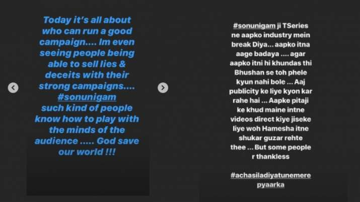 India Tv - Tseries' Bhushan Kumar's wife Divya Khosla Kumar calls Sonu Nigam 'thankless'