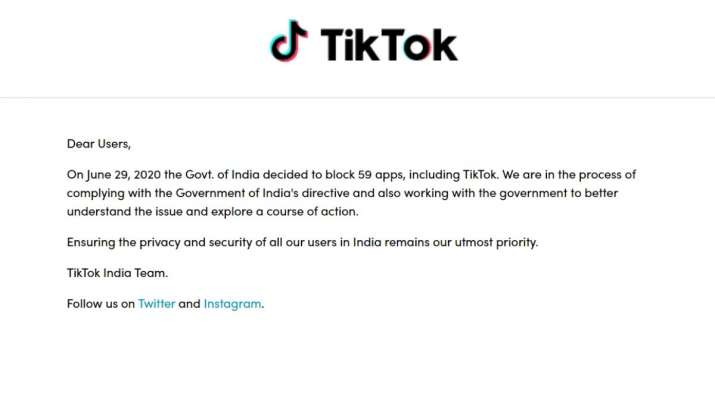 tiktok, tiktok notice, tiktok banned in india, chinese apps banned, 59 chinese apps banned, tiktok i