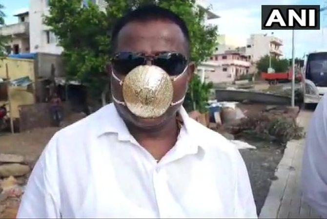 Shankar Kurade, a resident of Pimpri-Chinchwad of Pune district, has got himself a mask made of gold