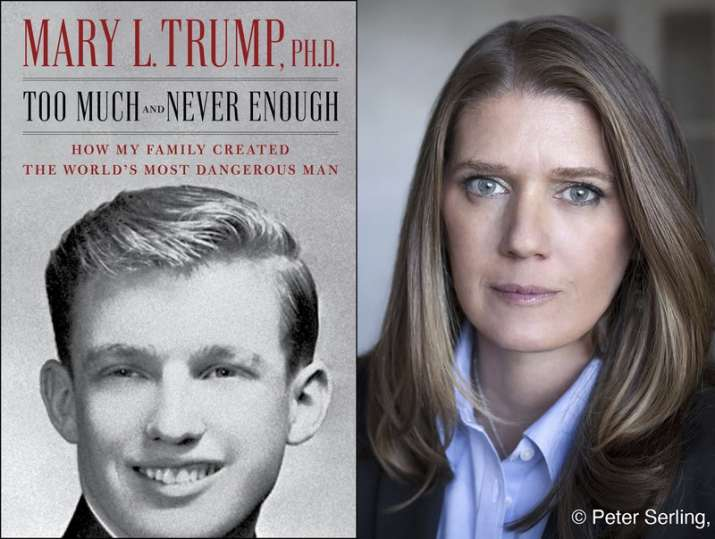 """This combination photo shows the cover art for """"Too Much and Never Enough: How My Family Created the"""