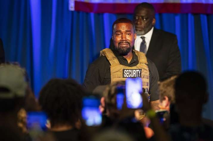 Kanye West amuses crowd at his debut event as US presidential candidate