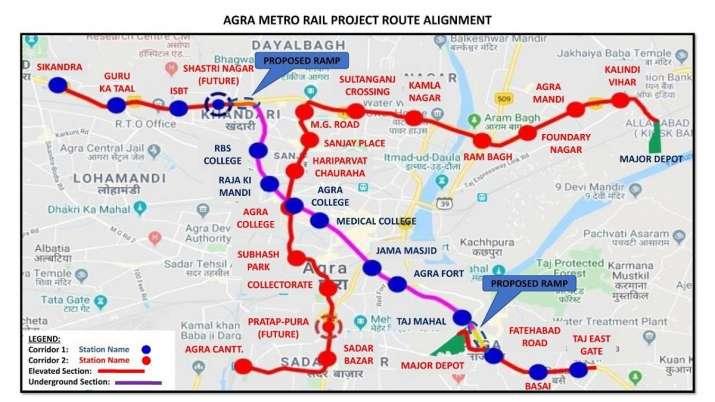 India Tv - Agra Metro, Agra Metro stations, Agra Metro Corridor, Taj Mahal