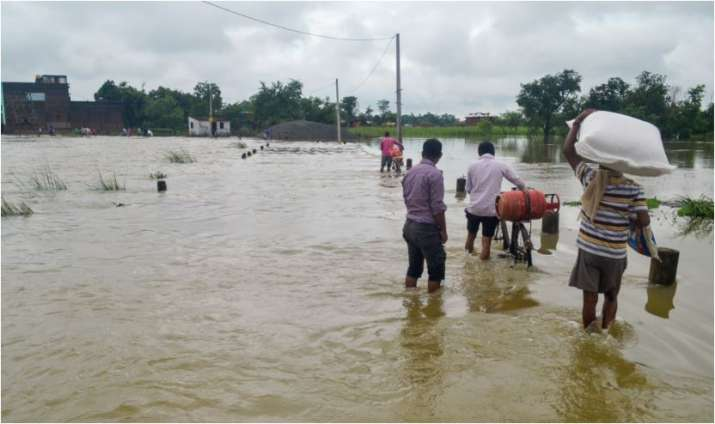 India Tv - The floods have hit nearly 4 lakh people in eight districts