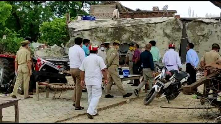 Kanpur: UP SIT probing police's 'connivance' with Vikas Dubey visits Bikru village