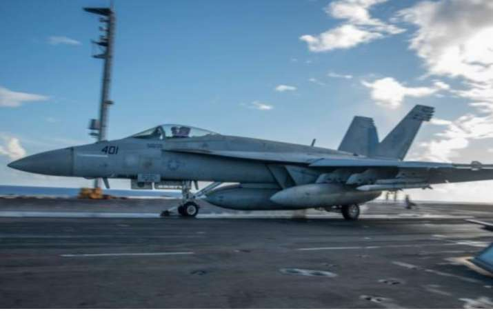 India Tv - US Navy aircraft taking off from Aircraft Carrier