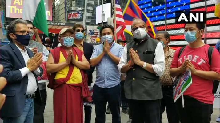India Tv - Boycott China protests in Times Square