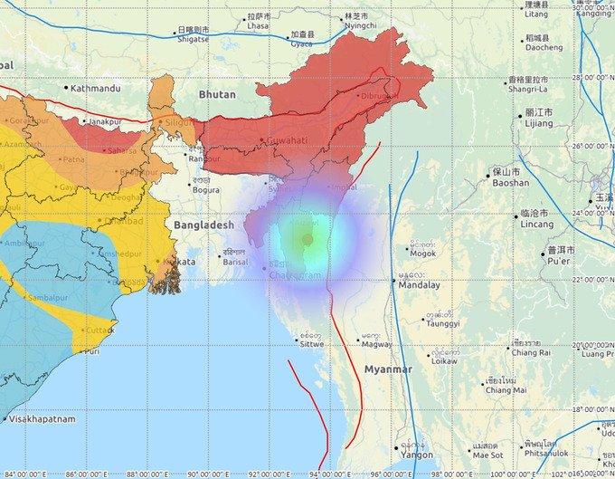 Earthquake hits Mizoram