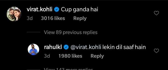 India Tv - Virat Kohli, KL Rahul engage in hilarious banter over coffee cup