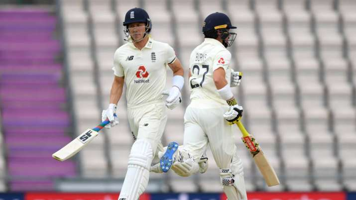 England vs West Indies, 1st Test: Rory Burns, Joe Denly hold fort as cricket gets off to rainy restart thumbnail
