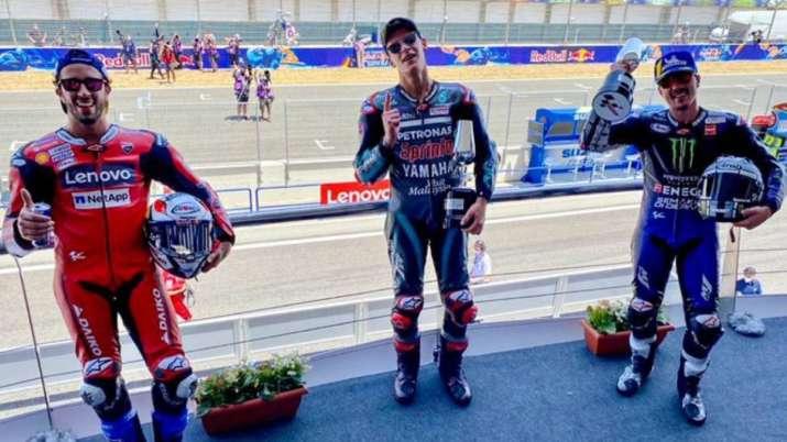Fabio Quartararo Wins Spanish Grand Prix As Motogp Resumes Marc Marquez Crashes Out Other News India Tv