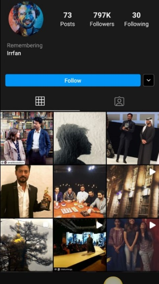 India Tv - Irrfan's Instagram profile