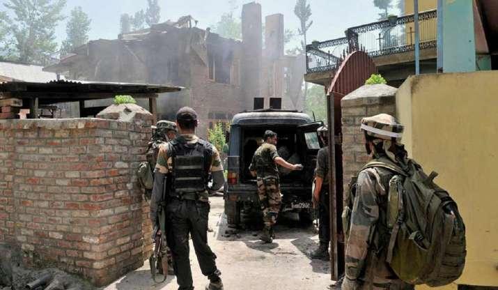 Terrorists attack CRPF bunker outside the CRPF camp at Nehama in Kulgam