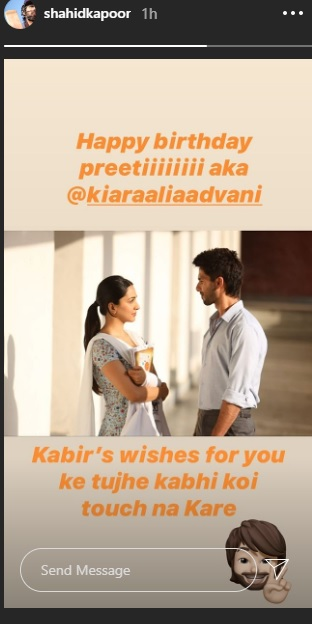 India Tv - Shahid's birthday wish for Kiara