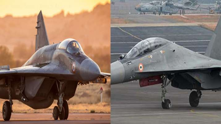 Indian Air Force fighter jets, MiG29, Su30 MKI