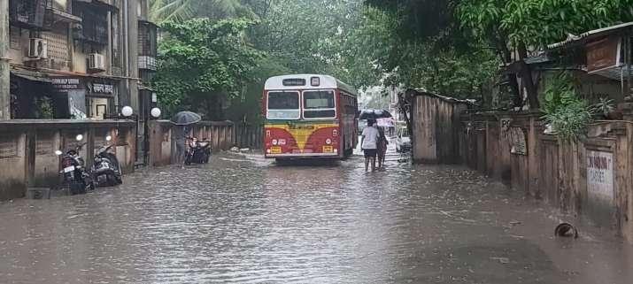India Tv - Mumbai Rains, Nalasopara, Heavy rainfall, water logging, Monsoon